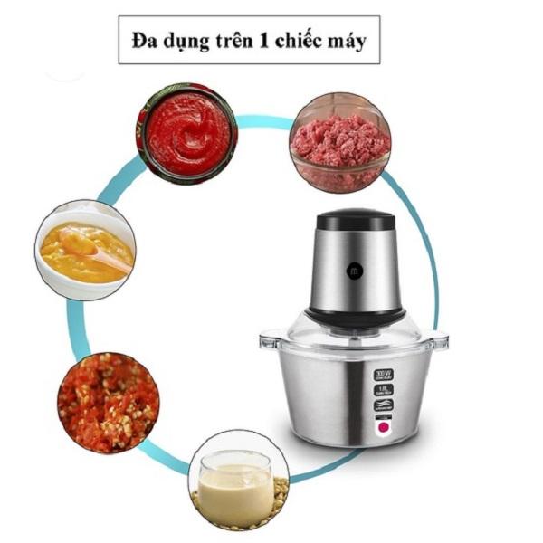 Máy xay thịt được ưa chuộng sử dụng bởi xay được nhiều loại thực phẩm và gia vị như tỏi, hành, tiêu,...