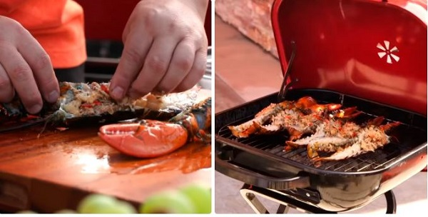 Nướng tôm bằng lò nướng điện